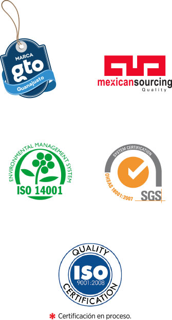 Marca Guanajuato, Mexican Sourcing Quality, ISO 9001 2008, SGS, ISO 14001
